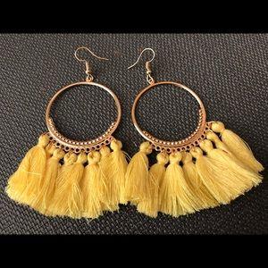 Jewelry - Bohemian Tassel Hoop Earrings